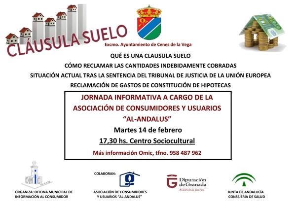 Jornada informativa sobre clausula suelo ayuntamiento de for Que es la clausula de suelo