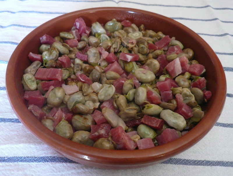 Turismo | Gastronomía | Habas fritas con jamón | Cenes de la Vega