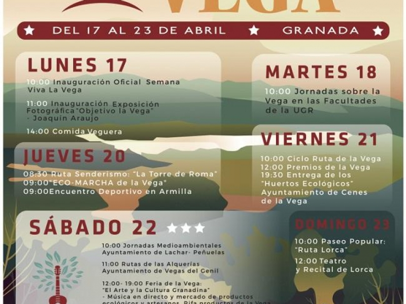 Cartel Semana de la Vega