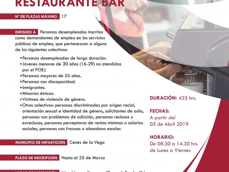 Cartel Servicios-restaurante-bar