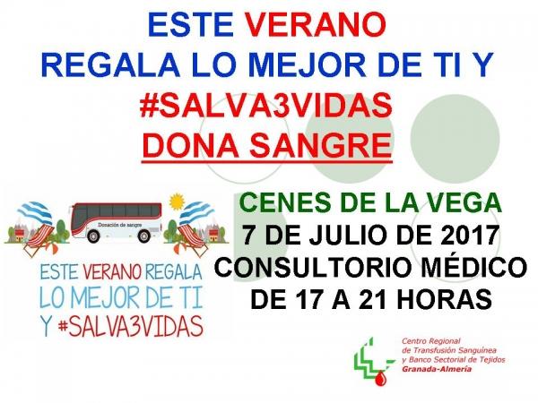 cartel donacion sangre cenes de la vega Julio 2017