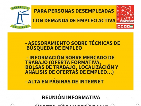 Cartel Servicio Andalucía Orienta