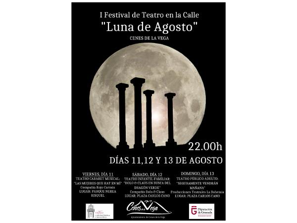 cartel festival de teatro Luna de Agosto