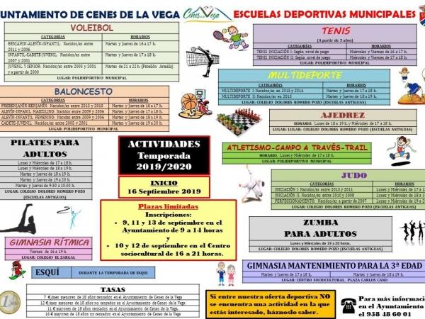 Escuelas Deportivas Municipales 2019-2020