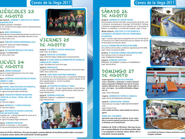 programa fiestas 2017
