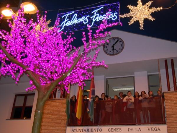 Cenes de la Vega inaugura el alumbrado de Navidad elegido por escolares del CEIP El Zargal